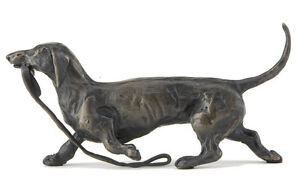 """Sue Maclaurin """"Trotting Dachshund"""" Solid Bronze Sculpture - Nelson & Forbes"""