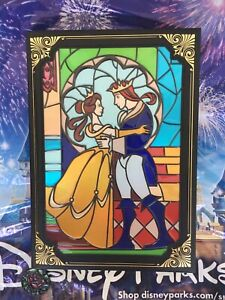 Disney Parks Beauty And The Beast Stained Glass Window Replica Journal Book