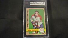 1972/73 TOPPS NHL HOCKEY CARD #140 FRANK MAHOVLICH KSA 10 GEM MINT SHARP!! 72/73