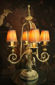 Large Clayre & Eef Lamp Candelabra 4-flammig Shabby Chic Vintage 77cm New