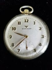 Wittnauer Swiss 10K Gold Filled 17 Jewel Open Face Pocket Watch working