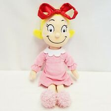 Manhattan Toy Company Cindy Lou Who Doll Dr Seuss Plush Toy Pink Dress Red Bow