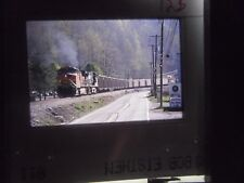 Original Slide Train RR WV West Virginia Red Jacket BNSF Freight car curve line