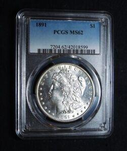 1891 US Morgan Dollar PCGS Certified MS62