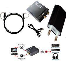 Digital Optical Koaxial Toslink zu analogen RCA Audio Converter Konverter Faser