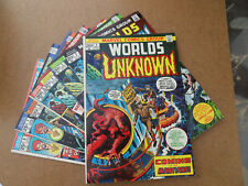 Worlds Unknown  1 - 8 . Lot Complet . Marvel 1973 / 74 .