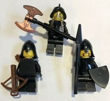 Lego Minifigures Bandits Dark Knight Soldiers Black Evil Armour Castle Lot A10