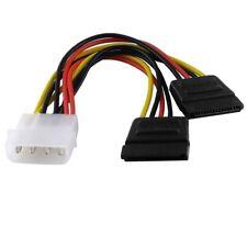 """13cm Interne PCI Strom Kabel Adapter für Computer 2 S-ATA Stecker auf 5,25"""" 4pol"""