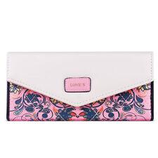 Porte-monnaie et portefeuilles enveloppes rose en cuir pour femme