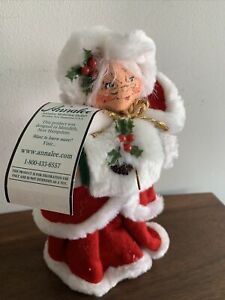 Peppermint Mrs Clause  Annalee 9 Inch 2004