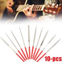 10pcs Guitar Nut Slotting File Saw Rod Slot Filing Set Luthier Replacement Tool