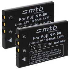 2x Batterie PDR-BT3 pour Toshiba Camileo H10,H20, HD, P10, P30,Pro HD, S10, X100