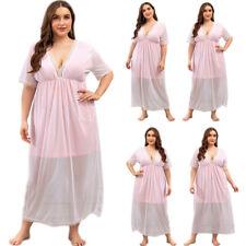 Плюс размер женский ночь пижамы свободная длинная ночная сорочка с коротким рукавом пижама лето