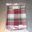 Longaberger Paprika Plaid OVAL LAUNDRY Basket Liner ~Made in USA~ New in Bag!