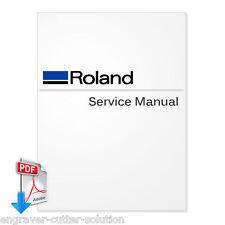 Roland SP-300 SP-300V Large Format Printer English Service Manual 7.1MB