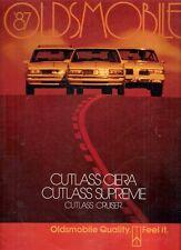 Oldsmobile Cutlass 1987 USA Market Sales Brochure Supreme Ciera Cruiser