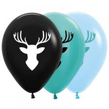 Party Supplies Boys Hunting Forest Birthday Deer Balloons Pk 10