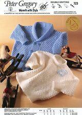 Jacket & Sweater #723 Peter Gregory Knitting Pattern Babies & Children 6mo-4yrs