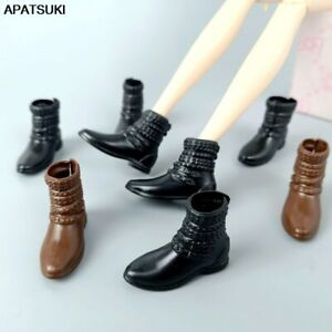 """Fashion Flat Bootie Shoes For 11.5"""" Doll Accessories Short Boots For Blythe 1/6"""