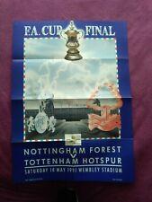 More details for 1991 fa cup final large poster nottingham forest v tottenham hotspur, freepost