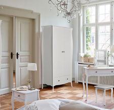Lyon French Style White 2 Door 1 Drawer Double Wardrobe 143cm 50cm 192cm