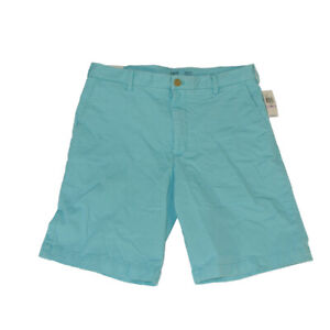 Izod saltwater stretch Chino shorts men's 32 X 9.5 light blue new with tags