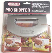 Salad Chopper Mince Dice Slicer Cutter Mezzaluna Double Stainless Steel Blade