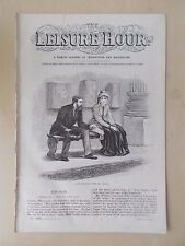 ANTIQUE VICTORIAN THE LEISURE HOUR MAGAZINE PAPER No 1098 JANUARY 11th 1873