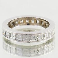 Diamond Eternity Ring 10.00 Carat Asscher Cut 18k Gold Ladies Channel Set