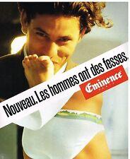 Publicité Advertising 1987 Sous Vetements slip Homme Eminence