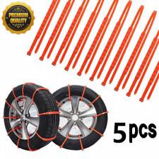 5PCS Car Truck Snow Anti-skid Wheel Tire Chains Universal Fit Tyre Width 175-295