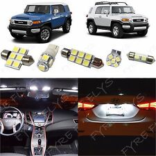 6x White LED lights interior package kit for 2008-2014 Toyota FJ Cruiser TF1W