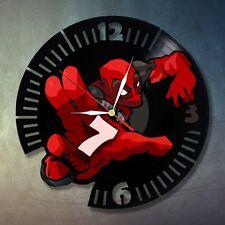 Deadpool 2C design vinyl record  wall clock home kids bedroom playroom office