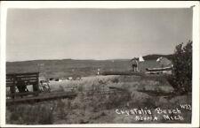 Pilgrim MI Crystalia Beach Real Photo Postcard