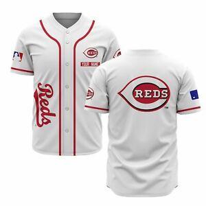 Cincinnati Reds Baseball Personalized Baseball Jersey Shirt S-4XL Freeshipping
