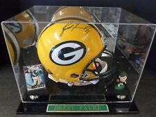 BRETT FAVRE Autograph Full Size NFL Football GB Packers Signed Riddell Helmet