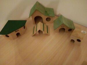 Nagerhaus aus Holz versch. Modelle,Rampe, Hamster,Ratte, Meerschweinchen
