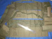 LOT x 4 - OD AMMO BANDOLIER - 1970's SOG - US SPECIAL FORCES - VIETNAM WAR, 7081
