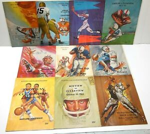 VTG 1960's Northern Ohio High School Football Program Lot CocaCola Ads Clearview