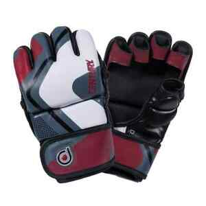 Century Drive Men's Fight Gloves Red/Black/Gray Size L New 1413000P