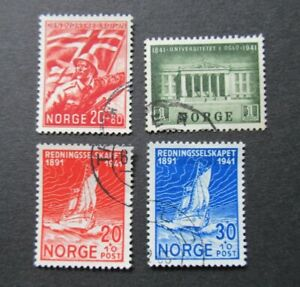 1941 2 ORE TO 1KR NORWAY NORGE SURCHARGE VF USED B316.15 START $0.99
