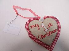 My 1st Christmas Heart Stocking Filler Sentimental Keepsake Present Gift #5F19