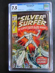 Silver Surfer 18 CGC 7.5 OWW Last Issue Inhumans 1970