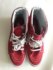 Vans Red with white stripes high tops Shoes size: men's 10