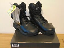 Magnum Stealth Force 8.0 Black Leather Cadet Military Army Boots UK 3 EU 35 New