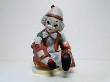 "Vintage Musical Clown Figurine Porcelain 8.5"" Tall Plays ""Send In The Clowns"""