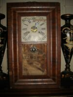 Vintage antique R C Andrews OGEE OG mantle wall clock for repair restoration
