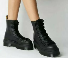 Dr Martens Trevonna Black Platform Boots Pisa Smooth - Spare Laces - BNIB - UK4