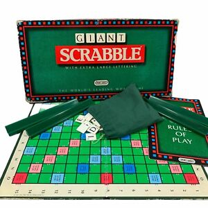 Vintage GIANT SCRABBLE By Spears Games 1988 All Complete - Great Condition