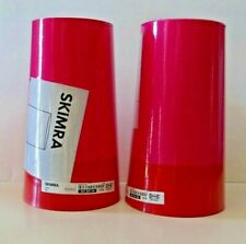 """IKEA SKIMRA Lamp Shade Pair Pink Red 2-tone discontinued NEW 6"""" x 11"""""""